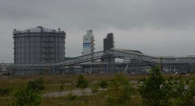 Nhà máy thép Formosa của Đài Loan tại huyện Kỳ Anh, tỉnh Hà Tĩnh chụp hôm 4/12/2015. AFP photo