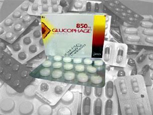 Thuốc trị tiểu đường Glucophage .