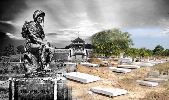 Các ngôi mộ của chiến sĩ Việt nam Cộng hòa tại Nghĩa trang Biên Hòa.