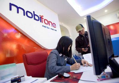 Một văn phòng giao dịch của Mobifone ở TPHCM.