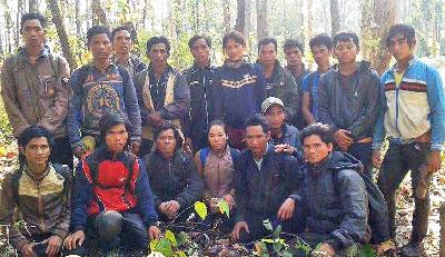 Nhóm 18  người Thượng từ Tây Nguyên, chạy sang Kampuchia hôm thứ Tư, hiện đang ẩn náu trong rừng Rattanakiri. RFA