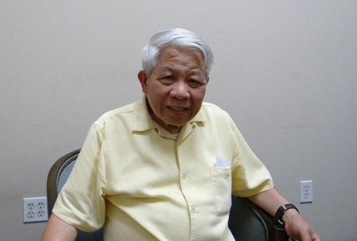 Giáo sư Nguyễn Ngọc Bích, Giám Đốc đầu tiên của Ban Việt ngữ RFA, ảnh chụp năm 2015.