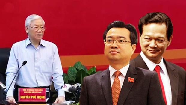 Ảnh minh họa, từ trái sang Tổng Bí thư Nguyễn Phú Trọng, ông Nguyễn Thanh Nghị và nguyên Thủ tướng Nguyễn Tấn Dũng.