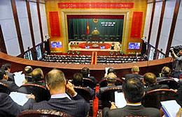 Toàn cảnh buổi lễ khai mạc Kỳ họp thứ 6 quốc hội khóa 13 của Việt Nam hôm 21/10/2013. AFP