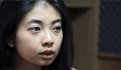 Cô Nancy Nguyễn, một người trẻ lên tiếng cho dân chủ- nhân quyền trong nước, vừa bị an ninh Việt Nam bắt mất tích 6 ngày. RFA PHOTO