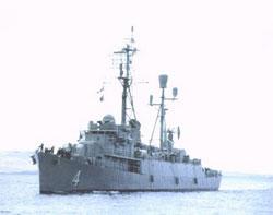 Chiến hạm HQ4 của Hải quân Việt Nam Cộng Hòa tham gia bảo vệ Hoàng Sa năm 1974. File photo.