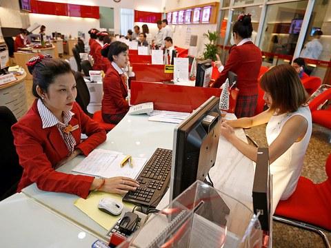 Hình minh hoạ. Toàn cảnh một chi nhánh ngân HDBank ở TP Hồ Chí Minh hôm 12/1/2018