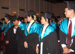 Sinh viên dự lễ tốt nghiệp tại Đại học RMIT, ảnh chụp trước đây. Courtesy RMIT.