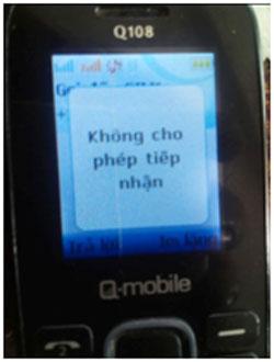 Các cuộc gọi từ nước ngoài bị chặn hay phá sóng. Citizen photo.