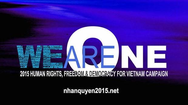 """Chiến dịch """"Nhân quyền 2015 cho VN"""""""