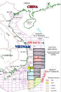 Trung Quốc cho khai thác dầu ngay trong vùng đặc quyền kinh tế thuộc thềm lục địa của Việt Nam. PetroVN