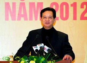 Thủ tướng Nguyễn Tấn Dũng phát biểu tại hội nghị ngành công thương