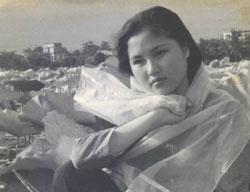 Nữ nghệ sĩ Kim Chi khi còn trẻ, hình do nghệ sĩ Kim Chi cung cấp.