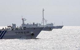 Tàu Hải giám Trung Quốc tăng cường kiểm soát tuần tiểu trên biển Đông. Source CNTV