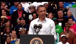Tổng thống Obama nói chuyện việc làm ở Detroit-Michigan, nhân lễ lao động 2011- ảnh White House