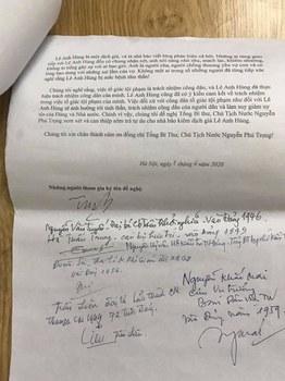 Thư ngỏ gửi Tổng bí thư kiêm Chủ tịch nước Nguyễn Phú Trọng về nhà hoạt động Lê Anh Hùng