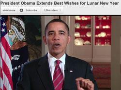 Tổng thống Hoa Kỳ, Barack Obama cũng có lời chúc mừng năm mới gửi đến cho người Mỹ gốc Á