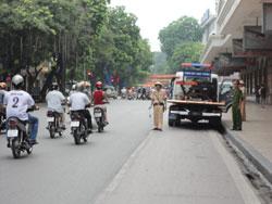 Cảnh sát giao thông tuần tra tại Hà Nội, ảnh chụp trước đây. RFA PHOTO.