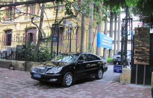 Cổng trụ sở Bộ GTVT ở số 80 đường Trần Hưng Đạo (Hà Nội)