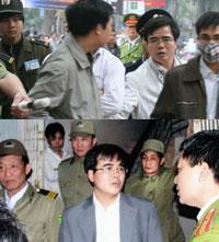 Luật sư Lê Quốc Quân đã nhiều lần bị sách nhiễu bắt giam vô cớ ngay giữa đường phố... RFA file