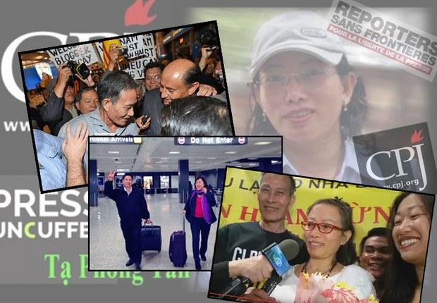 Các nhà đấu tranh Blogger Điếu Cầy, Tiến sĩ Cù Huy Hà Vũ và Blogger Tạ Phong Tần