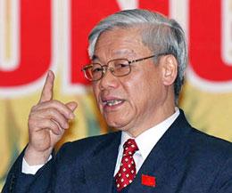 Tổng bí thư đảng Nguyễn Phú Trọng. AFP
