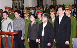 Ông Phạm Thanh Bình, Cựu Chủ Tịch tập đoàn Vinashin tại Tòa án Nhân dân Hải Phòng hôm 30/3/2012. RFA photo