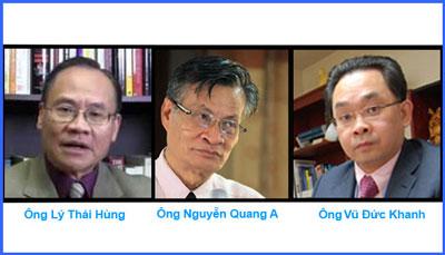 Từ trái ông Lý Thái Hùng - Ông Nguyễn Quang A - ông Vũ Đức Khanh