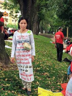 Chị Trần Thị Hải, người Ninh Bình đã bị bắt cóc, chưa biết hiện ở đâu.