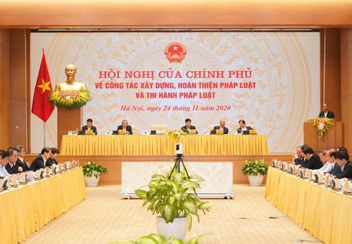 Hội nghị Chính phủ về xây dựng thể chế 24/11/2020.