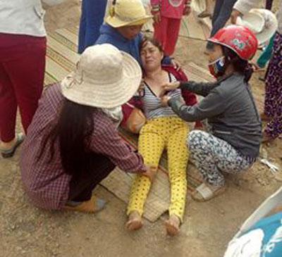 Một người dân bị công an đánh.
