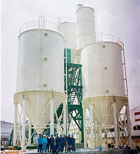 Hệ thống silo chứa và bảo quản lúa gạo. Cơ khí Hông Châu. Source cokhihongchau.