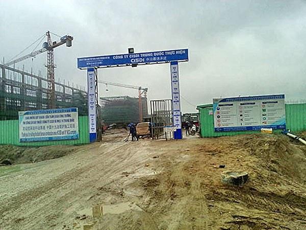 Một công trình trong khu vực dự án Formosa có gần cả ngàn lao động người Trung Quốc làm việc.