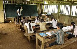 Một lớp học ở Phân trường Lũng Cà, Trường Tiểu học xã Thượng Nung, huyện Võ Nhai, Thái Nguyên (báo Thái Nguyên)