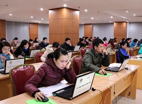 Đợt thi tuyển công chức trực tuyến do Bộ Nội Vụ tổ chức trước đây.