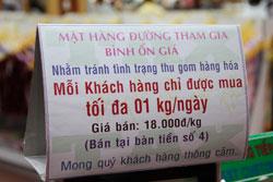 Bảng thông báo chương trình bình ổn giá tại một siêu thị ở SG tháng 2/2011. RFA photo.