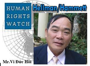 Ông Vi Đức Hồi được giải Hellman/Hammett năm 2009 của tổ chức nhân quyền Human Rights Watch