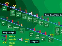 Sơ đồ thuỷ điện trên hệ thống sông Đồng Nai. Ảnh: TL SGTT