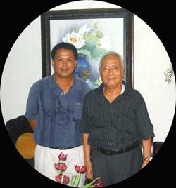 BS Nguyễn Đan Quế và Kỹ sư Phương Nam Đỗ Nam Hải, ảnh chụp trước đây. RFA file Photo.