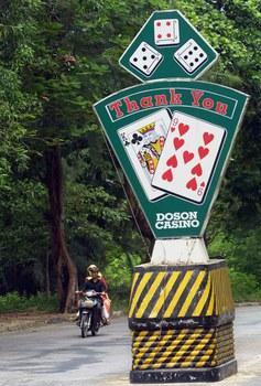 Hình minh họa. Cổng chào dẫn vào Casino Đồ Sơn. Ảnh chụp ngày 15/9/2020.