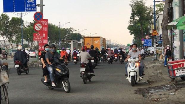 Đường phố Sài Gòn hôm 26 tháng 10 năm 2018.