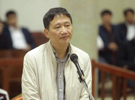Ông Trịnh Xuân Thanh tại tòa án hôm 24/1/2018.