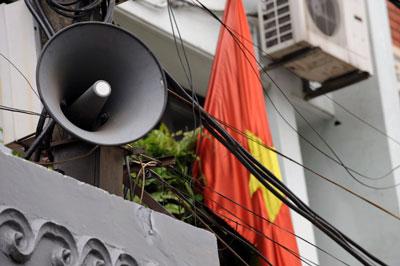 Một chiếc loa phường ở Hà Nội chụp ngày 20/12/2009.
