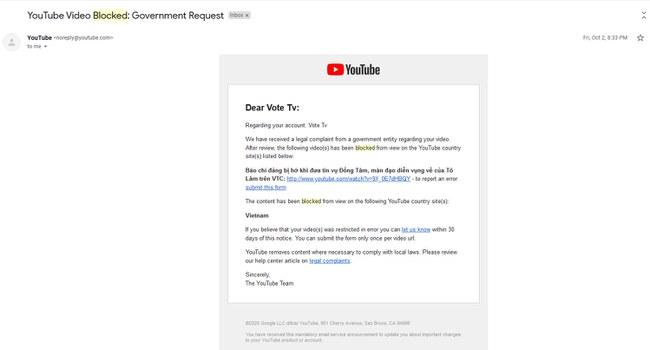 Các video trên kênh Vote Tv bị hạn chế ở Việt Nam theo yêu cầu của chính quyền Việt Nam.