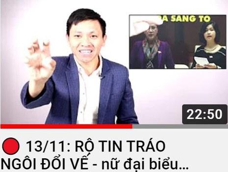 Kênh Vote Tv của nhà báo Trần Minh Nhật
