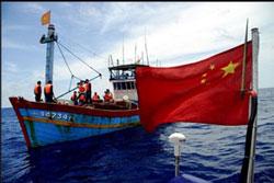 Tàu Trung Quốc bắt tàu Việt Nam-2009. RFA file.