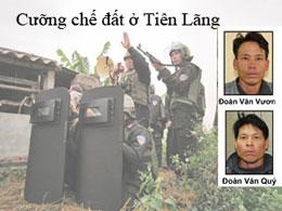 Anh Đoàn Văn Vươn và anh Đoàn Văn Quý dân oan Tiên Lãng. RFA file/Source phapluat.vn