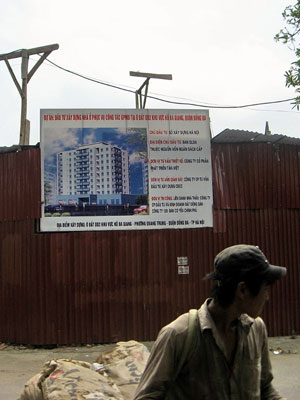Dự án nhà ở đô thị tại khu hồ Ba Giang thuộc giáo xứ Thái Hà Dòng Chúa Cứu Thế, Hà Nội. Ảnh chụp hôm 24/4/2009. AFP photo