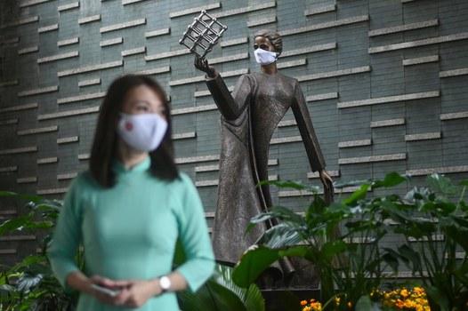 Ảnh minh họa chụp tại trường Marie Curie ở Hà Nội hôm 4/5/2020.