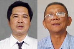TS luật Cù Huy Hà Vũ (trái) và ông Nguyễn Hữu Cầu. RFA files photos